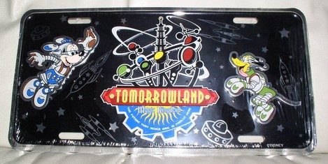 Walt Disney World Tomorrowland  License Plate