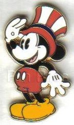 Disney pie-eyed Mickey Mouse  Patriotic  pin/pins