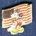 Disney Mickey Americana Flag patriotic pin/pins