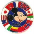 Disney Epcot - Mickey with Circle of  Flags pin/pins