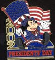 Disney Presidents' Day Mickey  USA  Flag pin/pins