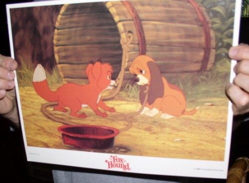 Disney Fox and the Hound Looking dated 1981 Lobby Card