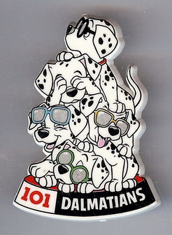 Disney 101 Dalmatians Puppies with sunglasses Pin/Pins