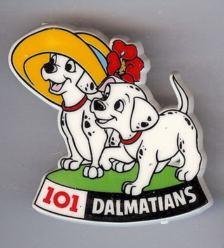 Disney 101 Dalmatians Two Puppies with hats Pin/Pins
