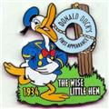 Disney Donald Duck Little Hen dated 1934 Pin/Pins