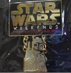 Disney MGM Star Wars Weekend  Boba Fett dangle Pin/Pins