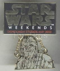 Disney MGM Star Wars Weekend Chewbacca dangle Pin/Pins