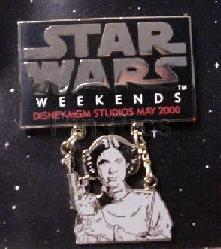 Disney MGM Star Wars Weekend Princess Leia dangle Pin