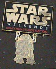 Disney MGM Star Wars Weekend R2 D2  dangle Pin/Pins