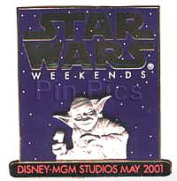 Disney MGM Star Wars Weekend Yoda Pin/Pins