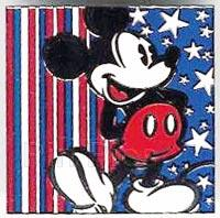 Disney Mickey Mouse  America Red White Blue Pin/Pins