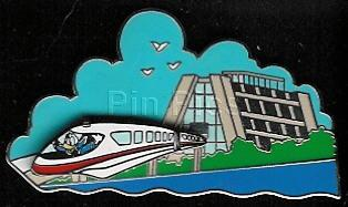 Disney monorail Donald Duck WDW rare Pin/Pins