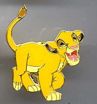 Disney WDCC Lion King  Simba never sold Pin/Pins