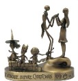 Disney  - Nightmare Before Christmas  - Jack and Sally - Lock. Shock, Barrel - Bronze