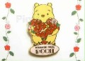 Disney Winnie The Pooh  Rose Pooh Japan DS pin/pins.   This pin is a Rose Pooh pin/pis