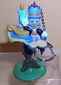 Disney Jiminy Cricket  ghost past Mickey's Christmas Carol figurine key chain clip on