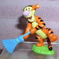 Disney Tigger holding broom from Winnie the Pooh figurine