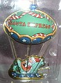 Merry Ballooning Santa Express Hallmark tin hot air balloon ornament
