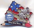 Disney  Mickey's Star Spangled Event - Mickey Artist Choice Patriotic  pin pin/pins