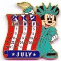 Disney Minnie as Statue of Liberty July 12 Months of Magic Calendar pin/pins
