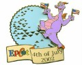 Disney Figment Journey into Imagination Epcot - 4th of July Celebration pin/pins