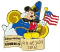 Disney MGM Studios - 4th of July 2002 Celebration Mickey pin/pins