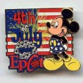 Disney Mickey Mouse Epcot WDW - July 4th  Patriotic flag pin/pins
