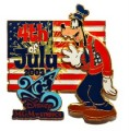 Disney Goofy MGM Studio  July 4th  Patriotic Sorcerer's Hat pin/pins