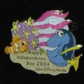 Disney WDW Finding Nemo Nemo and Dory July 4th  Patriotic USA Flag pin/pins