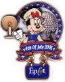 Disney Minnie Mouse  WDW -Epcot -Fourth of July-dangle pin/pins