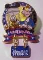 Disney - Goofy dangle MGM Studios - Fourth of July 2001 -  pin/pins