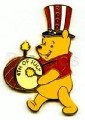 Disneyland Winnie patriotic drummer LE DLR - 4th of July pin/pins