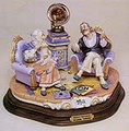 Capodimonte Sweet Memories Granmother and Grandfater Gramaphone  Laurenz Classic Sculpture Italy