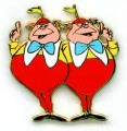 Disney Tweedle Dee and Dum Alice in Wonderland pin pins