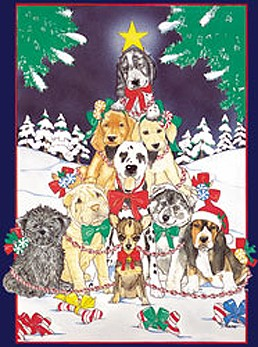 12 Multiple Dog Breed Christmas Cards by May Badenhop - Lab, Basset, Shar-Pei, Chihuahua & More