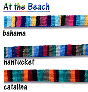 At the Beach - Dog Collars Hand-Woven by Mayan Artisans