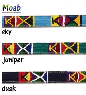 Moab Dog Collars - Hand woven by Mayan Artisans in Guatemala