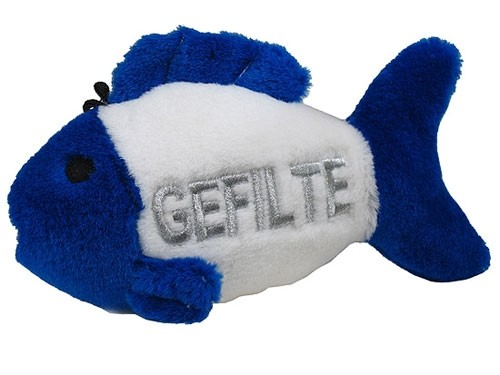 "Talking Gefilte Fish - 8"" Plush Dog Toy - Jewish"