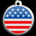 Red Dingo Pet ID Tag - US Stars and Stripes