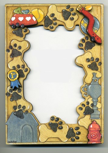 Wooden 3D Dog Picture Frame - by Mary Badenhop