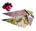 Pink Poppies - Reversible Dog Bandana by Kiss My Mutt - Pink, Olive, Grey
