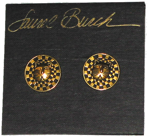 Laurel Burch Round Bartholomew Post Earrings - Gold-Tone