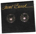 Laurel Burch Round Bartholomew Post Earrings - Silver-Tone