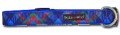 Royal Blue Plaid Collar - Blue, Green, Red on Blue Nylon by Walk-e-Woo