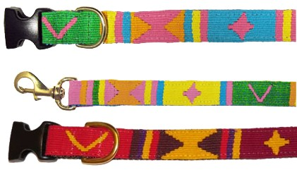 Seasons - Spring and Autumn - Collar and Leash - Handwoven in Guatemala