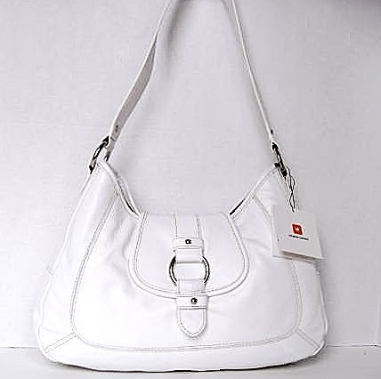 WILSONS White Leather Shoulder Bag Purse Handbag