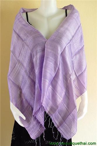 Thai Silk Scarf Wrap Shawl One Color Lilac