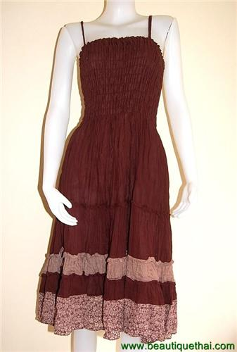 Three quarter length sundress brown