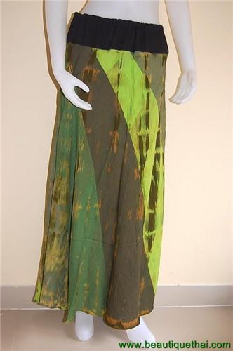 Full Length Panel Skirt Green