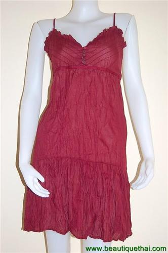 Monroe Dress Bordeaux Red